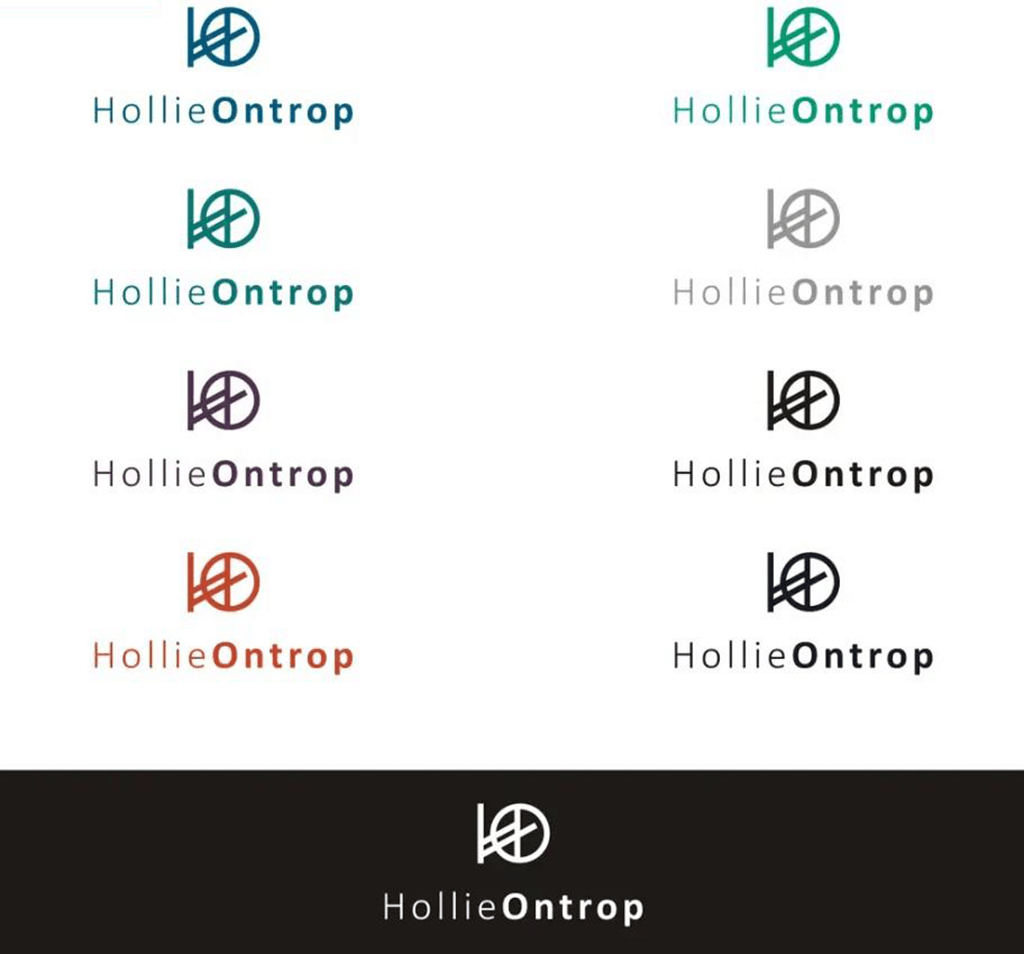 personal brand logo for hollie ontrop, creative writer