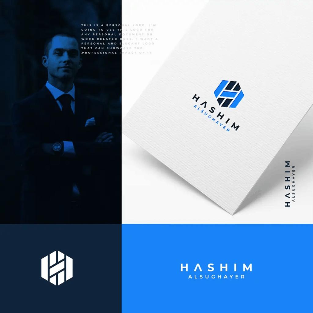 personal brand logo for hashim alsughayer
