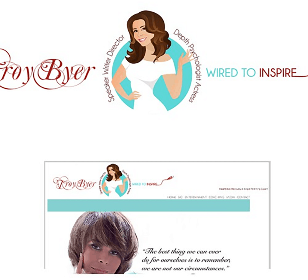 personal brand logo for troy byer, actress