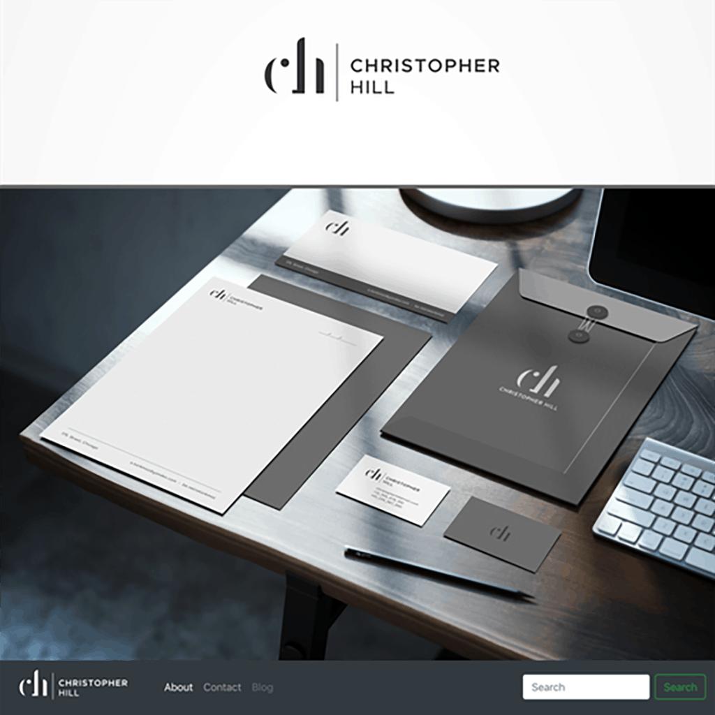 personal brand logo for christopher hill, entrepreneur