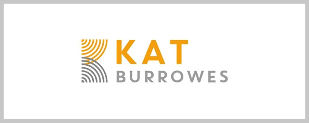 personal brand logo for kat burrowes, speaker