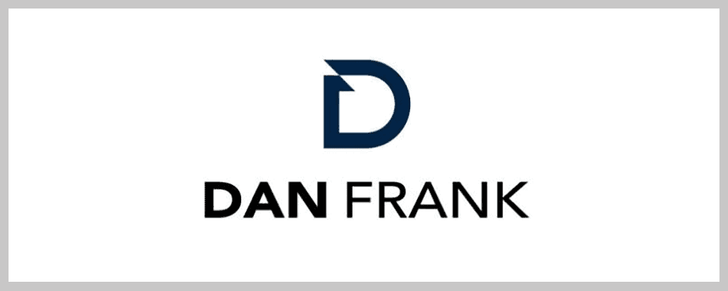 personal brand logo for dan frank, real estate agent