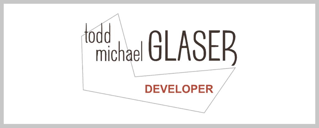 personal brand logo for todd michael glaser, designer