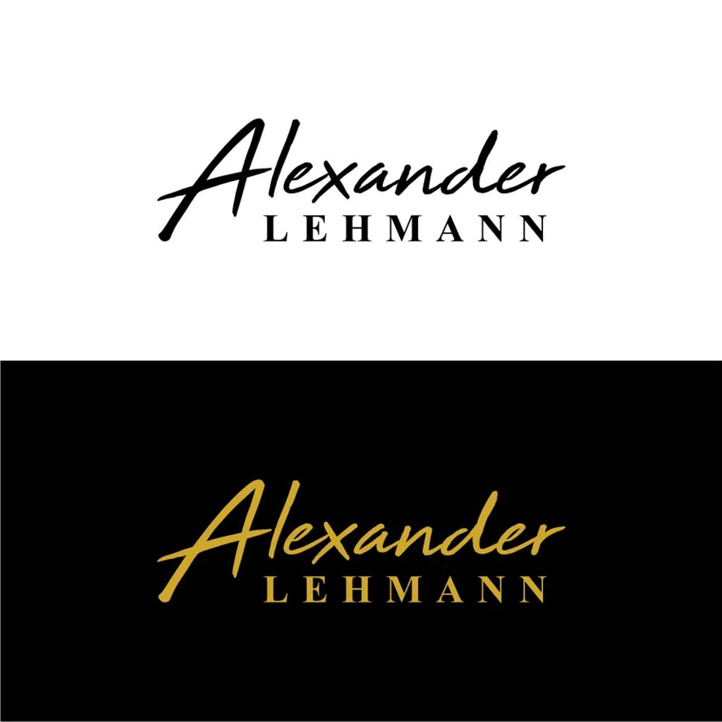 personal brand logo for alexander lehmann, magician