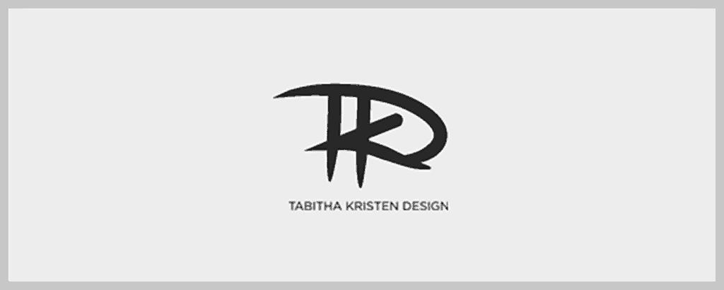 personal brand logo for tabitha kristen design, graphic designer