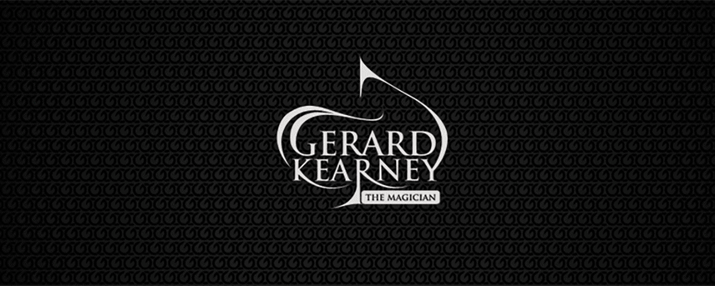 personal brand logo for gerard kearney, magician