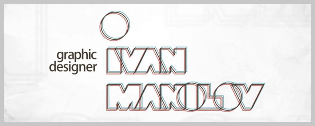 personal brand logo for ivan manolov, graphic designer
