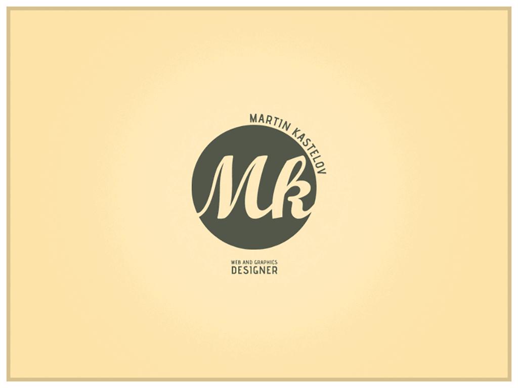 personal brand logo for martin kastelov, web designer