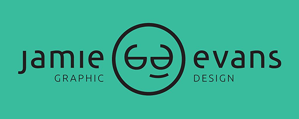 personal brand logo for jamie evans, graphic designer