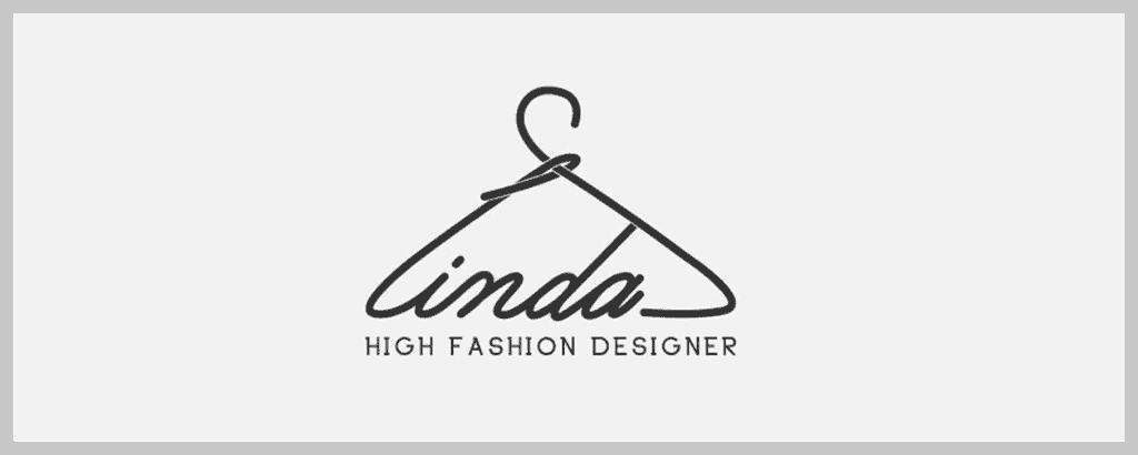 personal brand logo for linda, fashion designer