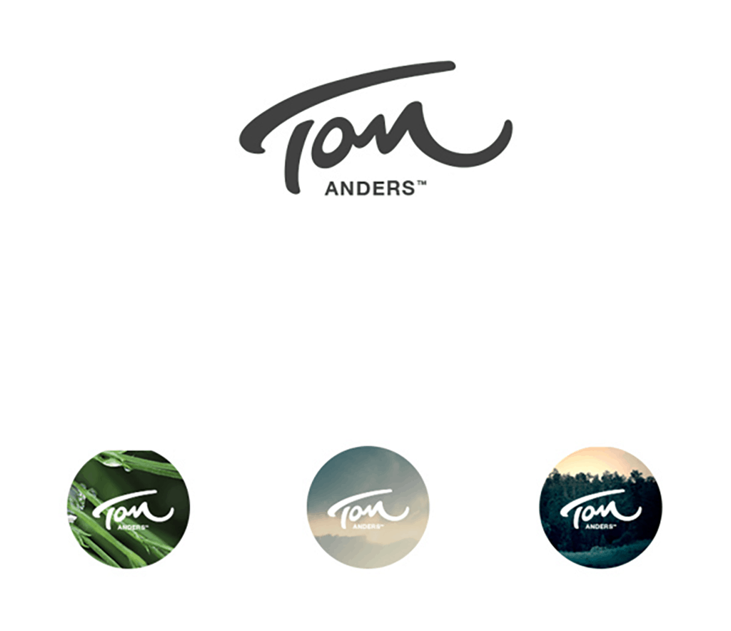 personal brand logo for tom anders, art director