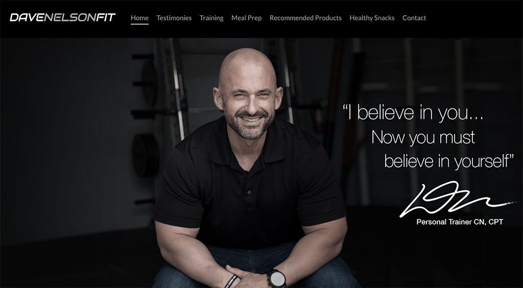 Dave Nelson's website and personal brand statement