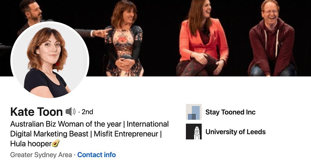 Kate Toon's LinkedIn profile