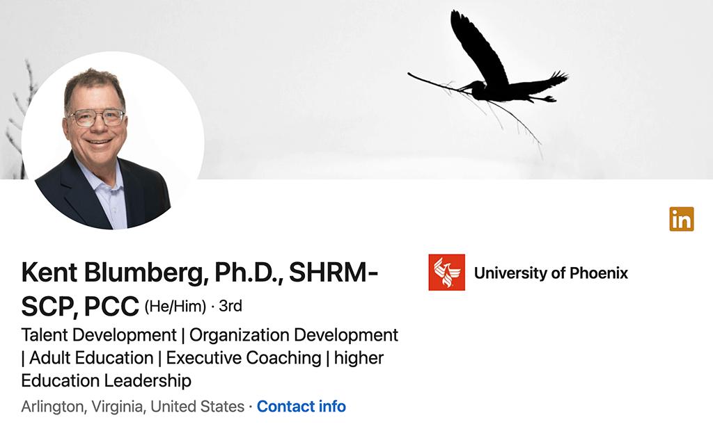 Kent Blumberg's LinkedIn profile